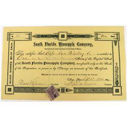 South Florida Pineapple Company Stock  (123283)
