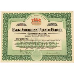 Falk American Potato Flour Stock with Colorful Logo Vignette  (123416)