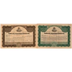 California Associated Raisin Company Stocks (Today they are known as Sun Maid)  (123358)