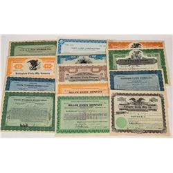Candy Company & Store Stock Certificates  (124545)