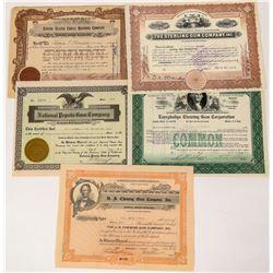 Chewing Gum Companies Stock Certificates  (124555)