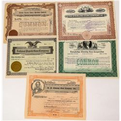 Chewing Gum Companies Stock Certificates  (124555)