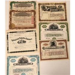 Confectionary Stock Certificates  (124546)