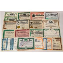 Food Related Businesses Stock Certificates  (124572)