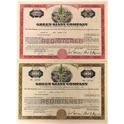 Green Giant Company Stocks with Colorful 'Ho Ho Ho' Vignette  (123395)