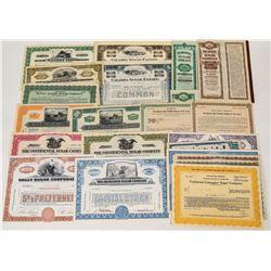 Larger Sugar Company Stock Certificates  (124567)