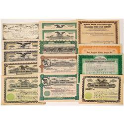 Small Sugar Company Stock Certificates  (124566)