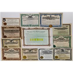 Western States Farm-Related Stock Certificates (12)  (113729)