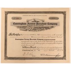 Cunningham Airvent Parachute Company Stock  (123405)