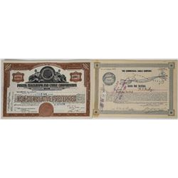 Two John Mackay Telegraph / Cable Company Stocks   (113778)