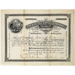 Electric Candle Company Stock Certificate (Mine Candles)  (113669)