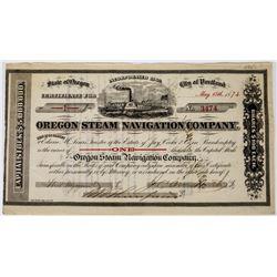 Oregon Steam Navigation Company Stock Certificate  (113663)