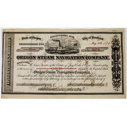 Oregon Steam Navigation Company Stock Certificate  (113663)