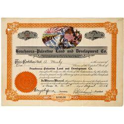 Hoachooza-Palestine Land & Development Company Stock Certificate  (113678)