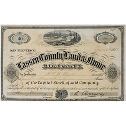 Lassen County Land & Flume Company Stock Certificate  (113666)