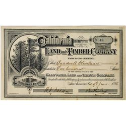California Land and Timber Company Stock Certificate  (113667)