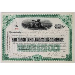 San Diego Land and Town Company Stock Certificate  (113758)