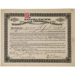 Panama-Pacific International Exposition Co. Stock Certificate (PPIE)  (113764)