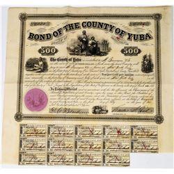 Gold Rush Era $500 Yuba County Bond  (113694)