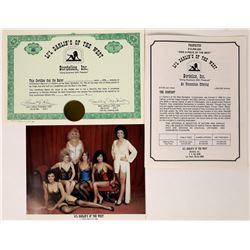 Li'l Darlin's of the West -- Bordellos Inc. Stock Certificates, Prospectus, & Picture  (124814)