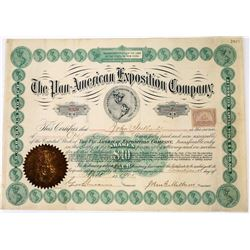 Pan-American Exposition Company Stock Certificate  (113675)