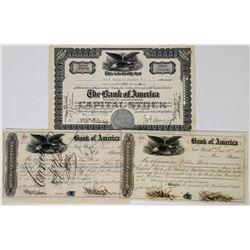 Bank of America Stock Certificates   (113722)