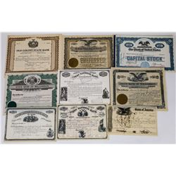 New York Banking Stock Certificate Collection  (113723)