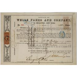 Wells Fargo and Company Stock Certificate  (113665)