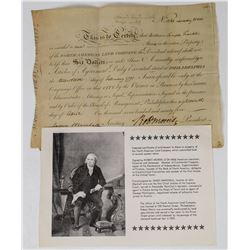 North American Land Co. Stock w/ Autograph of a Signer of the Declaration of Independence  (113708)