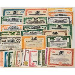 Distillery Stock Certificates  (124583)