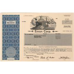 Enron Stock Certificate Biggest Fraud in History  (124822)