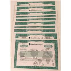 Global Crossing Stock Certificates (10)  (124821)