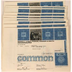 Merrill Lynch Stock Certificates issued to Merrill Lynch (10)  (124819)