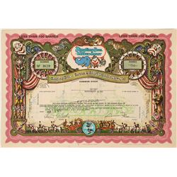 Ringling Bros - Barnum & Bailey Combined Shows Stock Certificate  (124816)