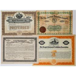 World's Fair Exposition Stock Certificate Group (4)  (113771)