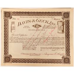 Davis & Geck, Inc. Stock - Proudly Advertising Iodized Cat Gut  (123410)