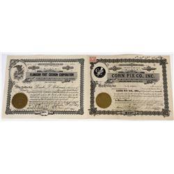 Foot Medicine Company Stock Certificates  (119375)