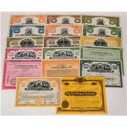 Drug Company Stock Certificates  (124579)