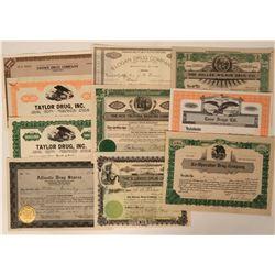 Eastern Drug Company Stock Certificates  (124548)