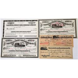 California Street Cable Railroad Co. Stocks & Checks  (113670)