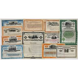 Eleven Different New York Railroad Stocks/Bonds  (113774)