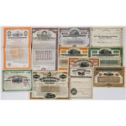 New York Railroad Stocks/Bonds (11 Different)  (113776)