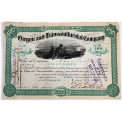 Oregon & Transcontinental Co Stock, Issued to and Signed by Charles Pratt  (118638)