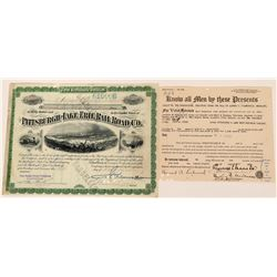 Pittsburgh & Lake Erie Railroad Stock Issued to and Signed By Three Vanderbilt's- 1912  (118579)