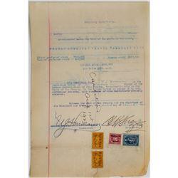 Boston American League Baseball Club Temporary Stock Certificate  (113753)