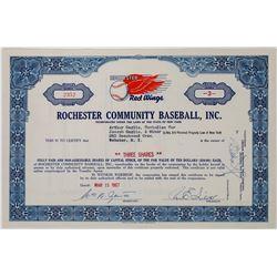 Rochester Community Baseball, Inc. Stock Certificate  (113751)