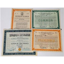 Sports Stadium Stock Certificate Group  (113748)