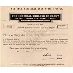 Imperial Tobacco Company (of Great Britain and Ireland) Loan Stock  (123430)