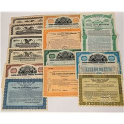 Tobacco Company Stock Certificates  (124574)
