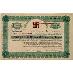 Lucky Cross Mines of Swastika, Limited, Stock Certificate  (113664)